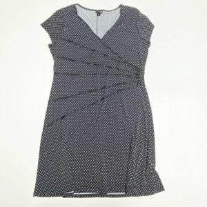 East 5th Polka Dot Dress Petite XL Career Stretch